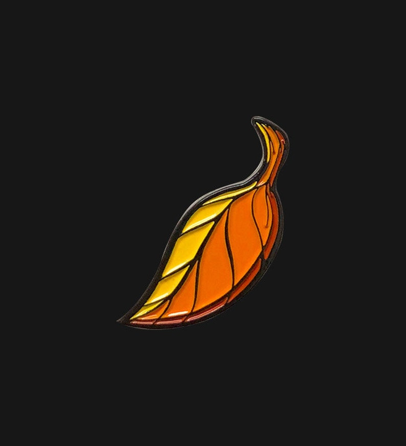 Falling Autumn Leaf Enamel Pin