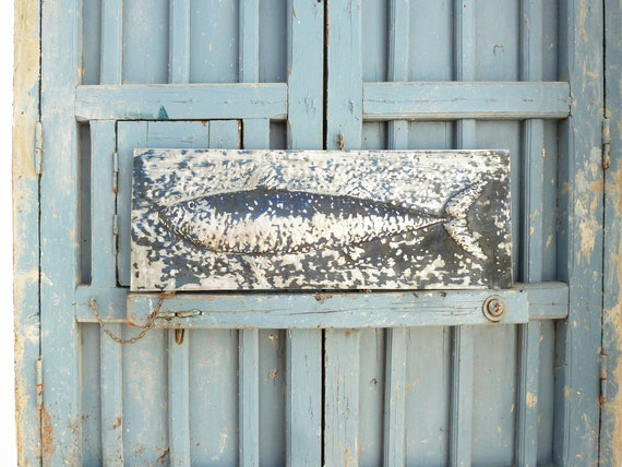 Big blue fish, Metal sculpture, Wall, Fish relief, Animal sculpture, Metal wall sculpture, Metal art, Home, Office, Zinc