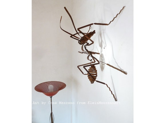 Contemporary art, Metal Sculpture, Ants, Sculpture, Wall, Art, Insect, Anthill,Environment, Ceiling, Home decor, Original, Cosé Manzano