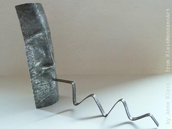 Metal sculpture, Mask, The poet, Metal Art, Hand hammered, Original art, OOAK, Poetry, Zinc, Home Decor, Anne Klein H.