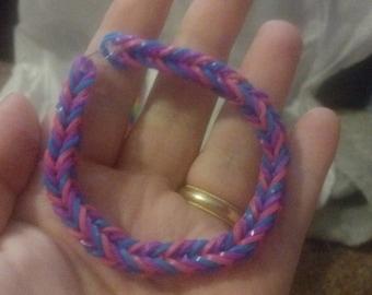 Bi Pride Rubber Bracelet