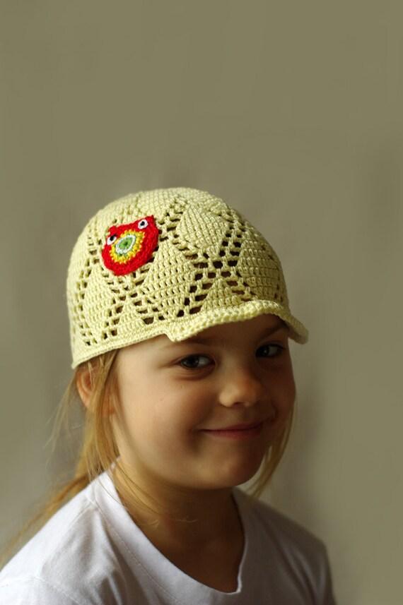 Häkeln Sie Sommer Hut Für Kinder Gelb Häkeln Sommer Mütze Etsy