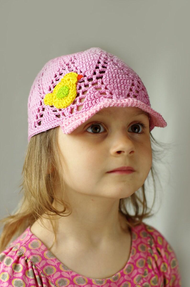 a5406e4c4 Crochet el sombrero de visera de verano para niños, sombrero hecho a mano,  niñas béisbol sombrero, sombrero del sol chicas, niño verano sombrero, ...
