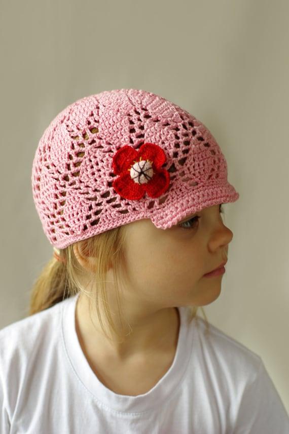 Crochet summer hat for girls toddler sun hat kids summer  69525f14a05