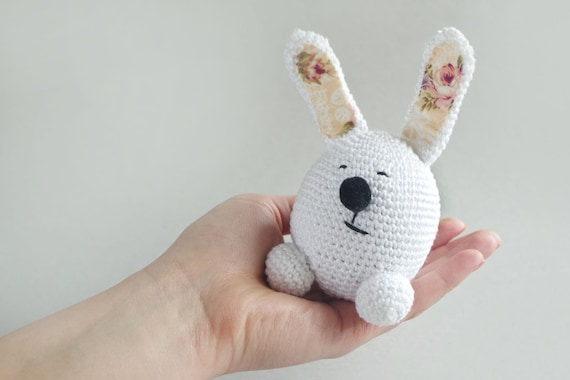 Crochet Amigurumi Cute Bunny PATTERN ONLY, Crochet Stuffed Animal ... | 380x570