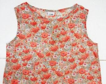 sleeveless blouse in muslin cotton