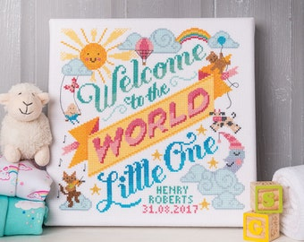 Welcome to the world baby - Cross Stitch Pattern (Digital Format - PDF)