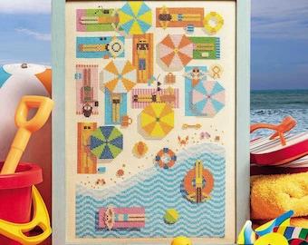 On the Beach - Cross Stitch Pattern (Digital Format - PDF)