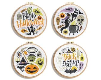 Spooky Hoops - Cross Stitch Patterns (Digital Format - PDF)