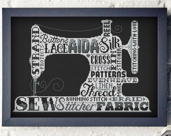 Stitchy Sewing Machine - Cross Stitch Pattern (Digital Format - PDF)