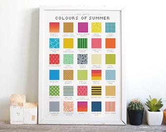 Colours of Summer - Cross Stitch Pattern (Digital Format - PDF)