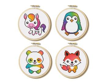 Kawaii Friends - Cross Stitch Patterns (Digital Format - PDF)