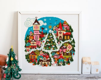 Christmas Town - Cross Stitch Pattern (Digital Format - PDF)