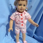 American Girl Doll - Pink  Shortie Pajamas