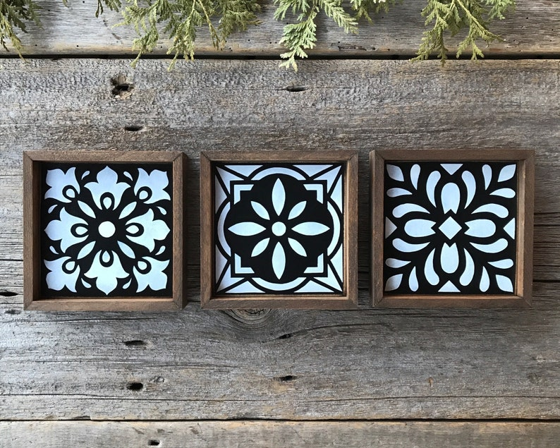 Moroccan Style Tiles For Modern Farmhouse Kitchen Or Bathroom Scandinavian Style Decor Decorative Wood Mosaic Tiles French Country Decor