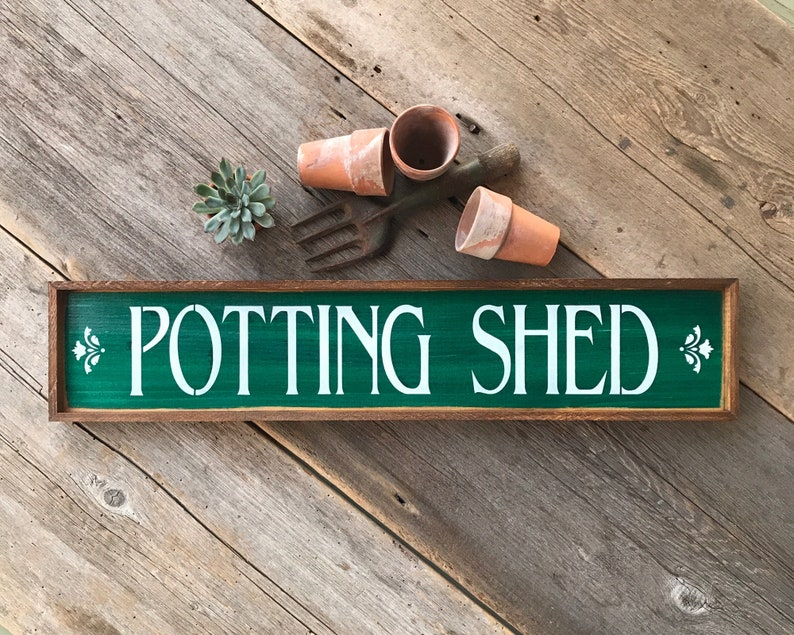 Potting Shed Sign For Garden Or Greenhouse, Garden Shed Decor, Country  Farmhouse Signs, Garden Decoration, Rustic Country Cottage Signs