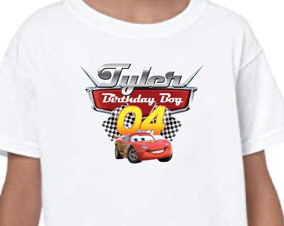 Cars Lightening McQueen 1 2 3 4 5 Custom Birthday Shirt