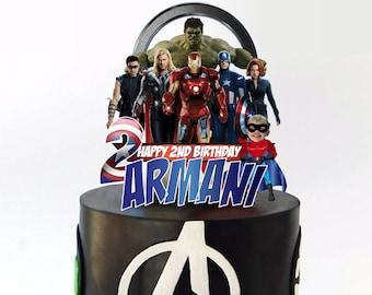 Swell Avengers Cake Topper Etsy Funny Birthday Cards Online Unhofree Goldxyz