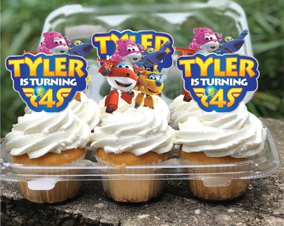 Super Wings Superwings 1 2 3 4 5 Label Cake Cupcake Digital Toppers