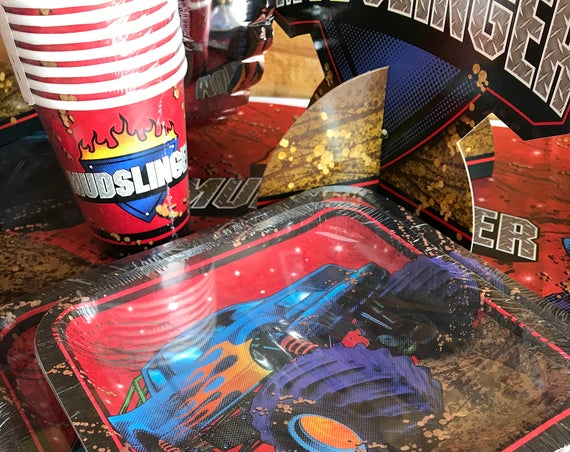 Monster Truck Birthday Party Cups