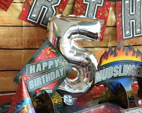 Monster Truck Birthday Party Stickers