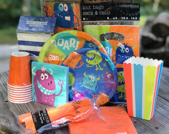 Little Monster Birthday or Baby Shower Party Kit