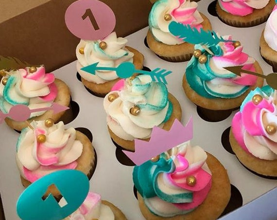 Wild One Cupcake Cake Toppers Set of 12