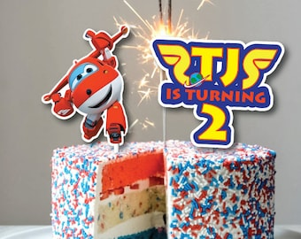 Super Wings Superwings 1 2 3 4 5 Birthday Cake Topper Decoration