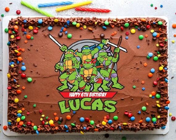 Teenage Mutant Ninja Turtle Label Cake Cupcake Digital Toppers