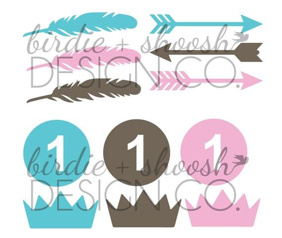 Wild One Cupcake Cake Toppers Digital SVG Cricut Silhouette File