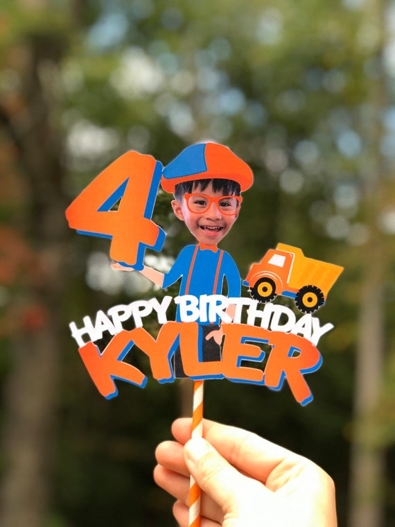 Blippi Cake Topper Cupcake Digital Toppers DIY