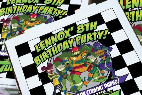 "Teenage Mutant Ninja Turtle Label Favor Pizza Boxes 8"" 10"" 12"" 14"""