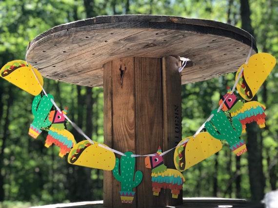 Taco Fiesta Pinata Cactus Birthday Party Decor Banner Garland