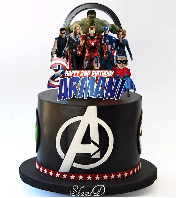 Avengers Hero Marvel Birthday Party Cake Topper