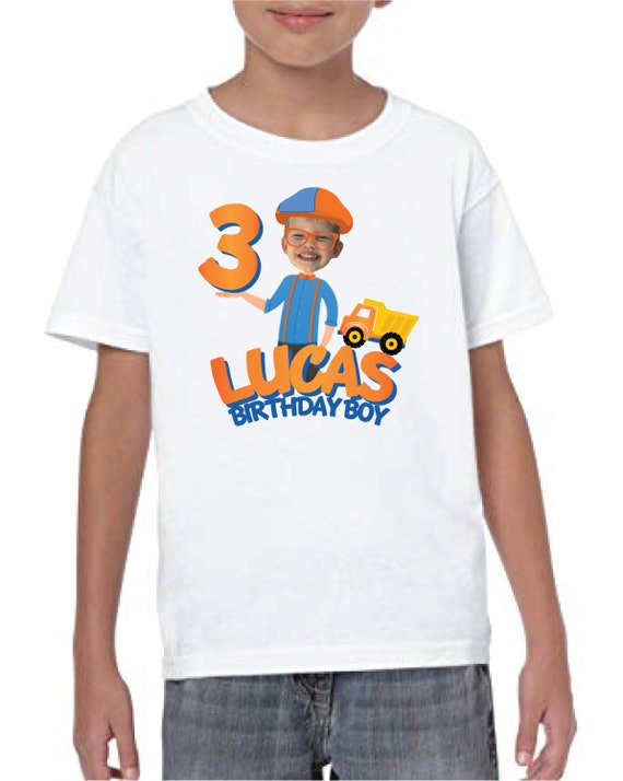 Blippi Label Custom Birthday T-Shirt