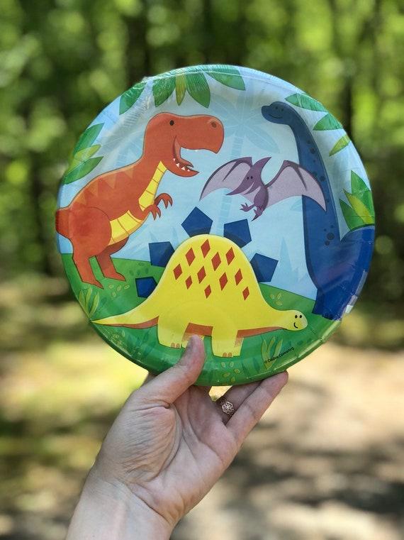 Dinosaur Birthday Party Decor Dinner Plates 8 ct
