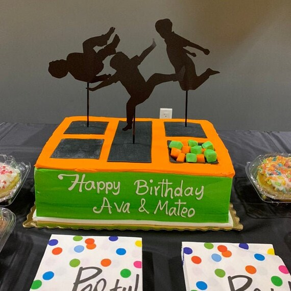 Trampoline Jump Party Cupcake Cake Toppers Set of 12