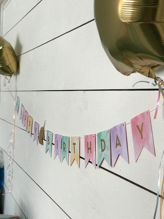 Unicorn Happy Birthday Banner (1), Creative Converting Party Banner Assortment, party decor, birthday