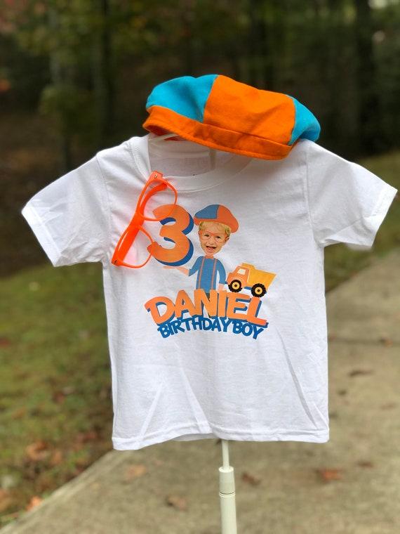 Blippi Label Custom Birthday T-Shirt