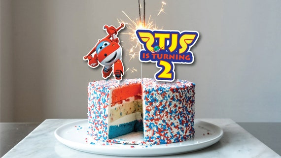 Super Wings Superwings 1 2 3 4 5 Birthday Cake Topper