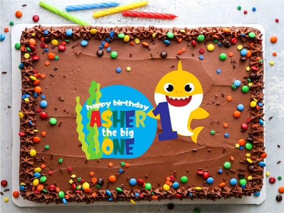 Baby Shark Do Do Doo 1 2 3 4 5 6 7 Custom Cupcake Smash Cake Topper