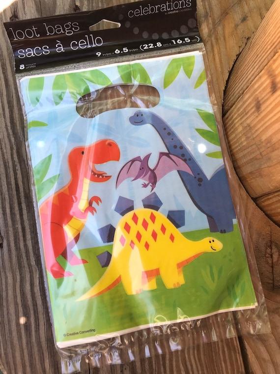Dinosaur Birthday Party Decor Loot Favor Goody Treat 8 ct