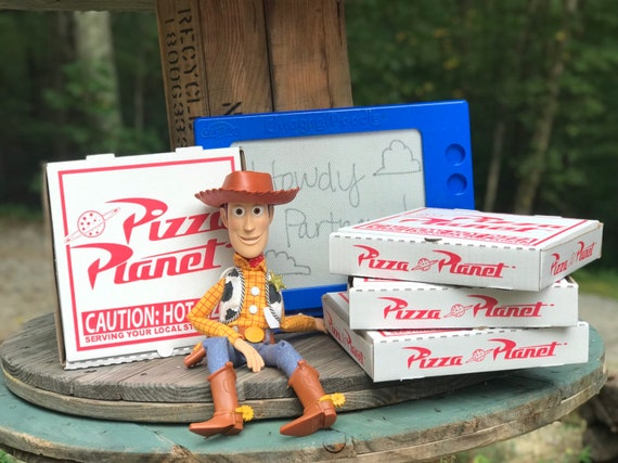 Toy Story Pizza Planet Boxes Favors and DIY Labels