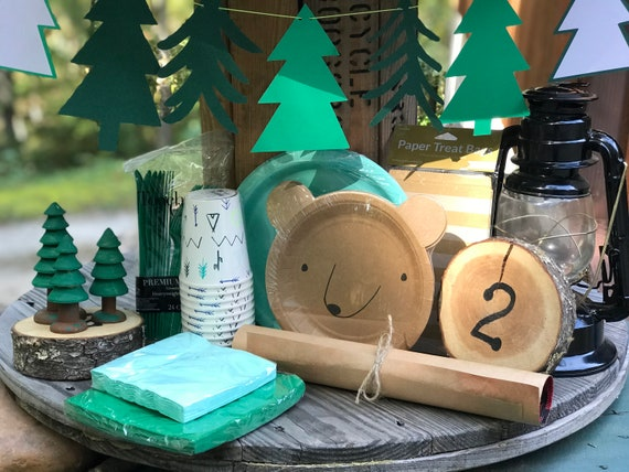 Woodland Camping Birthday Baby Shower Party Kit