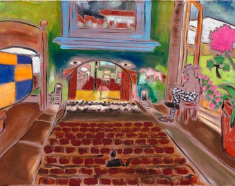 "Maybe I Sleep In The Theatre - Douglass Truth Original Painting - 24"" x 36"""