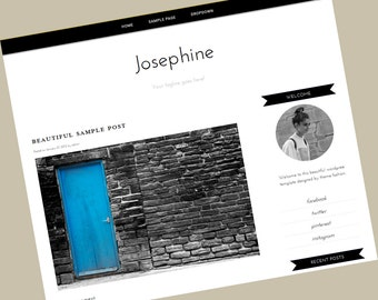 Wordpress Blog Theme - Josephine