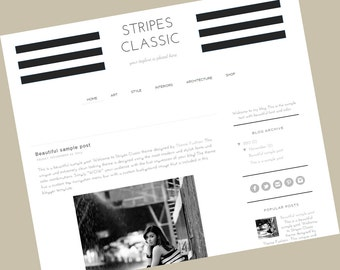 Blogger Template - Stripes Classic