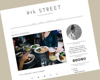 Blogger Template - Responsive blogger template - blogger theme - 9th Street