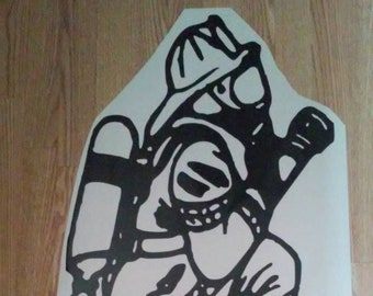 Fire Fighter Decal /Fire Fighter/ Fire Fighter Window Decal/ Fire Fighter Auto Decal