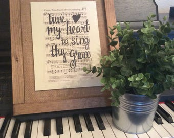 Come Thou Fount of Every Blessing | Hand Painted Sign | hymn